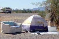 Camping off the grid in Quartzsite