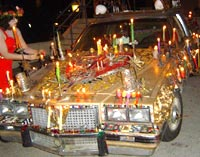 Day of the Dead car altar