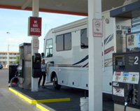 RV gets gas
