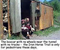 The boxcar with no wheels...