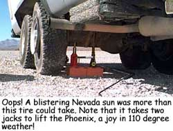 Oops!  Flat tire in Nevada