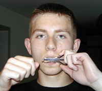 Ben Ferrone plays a Jew's harp